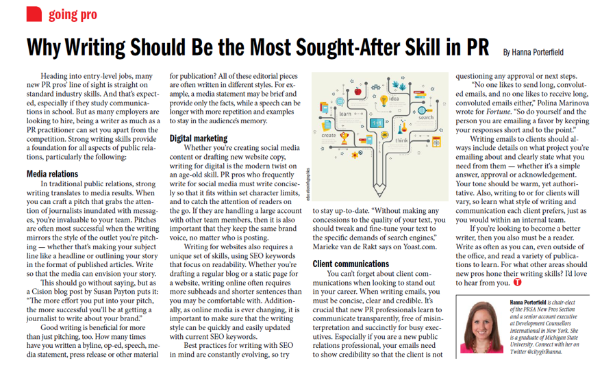 why writing should be the most sought-after skill in pr