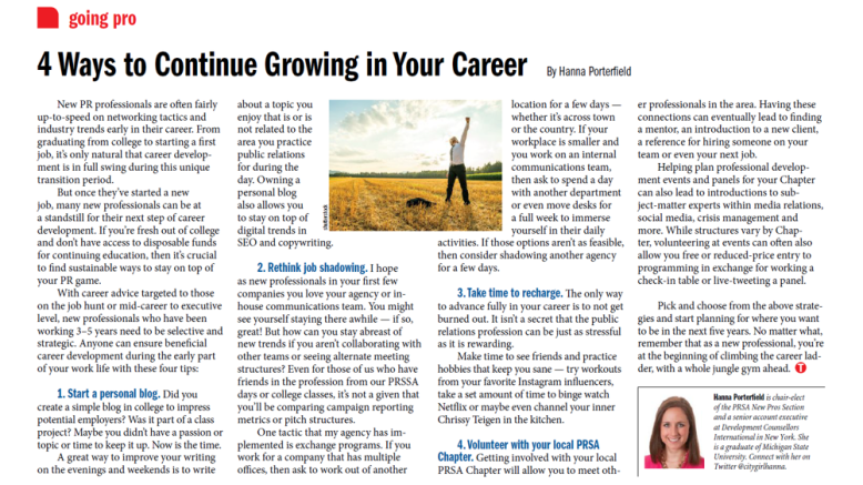 4 ways to continue growing in your career