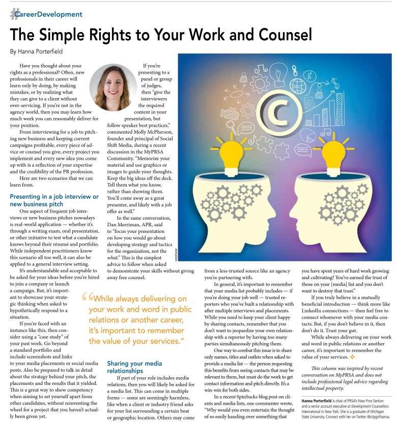 the simple rights to your work and counsel