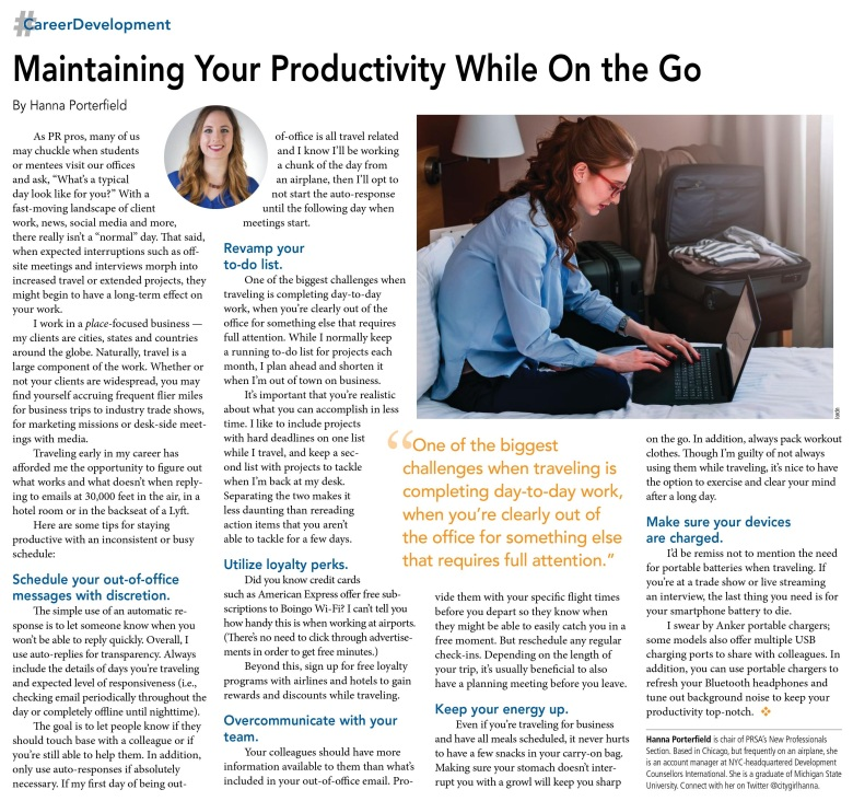 maintaining your productivity while on the go