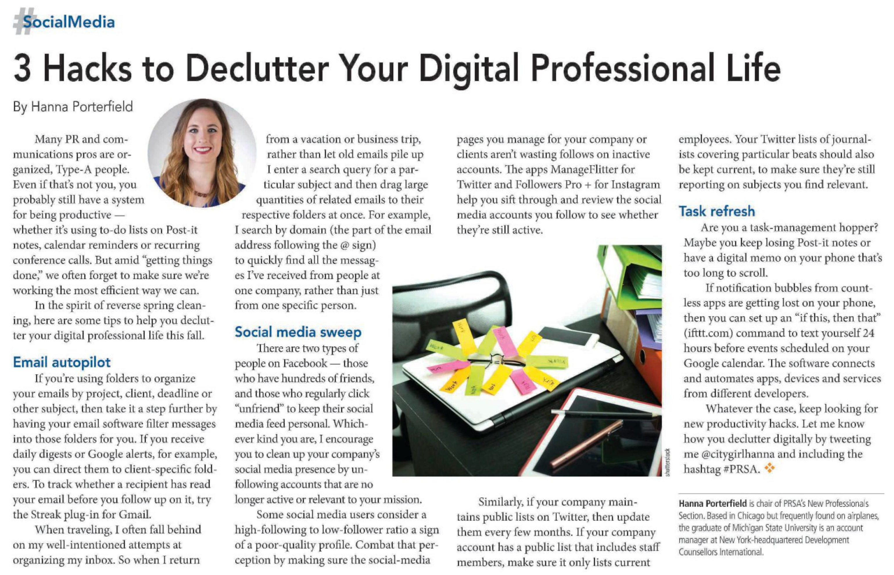 3 hacks to declutter your digital professional life